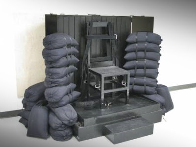 The chair that convicts are strapped to before they are executed in Utah.