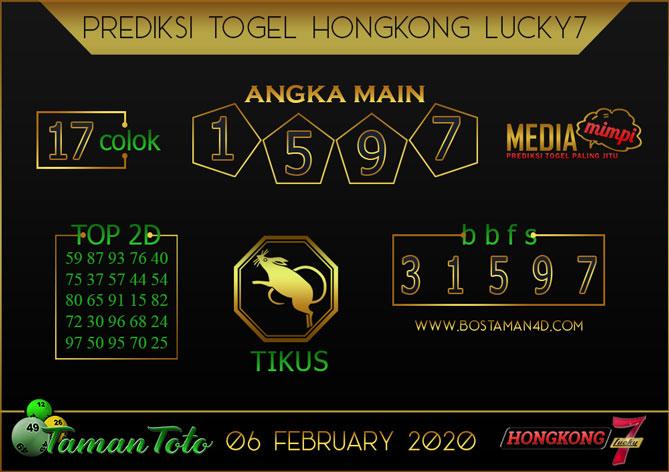 Prediksi Togel HONGKONG LUCKY 7 TAMAN TOTO 06 FEBRUARY 2020