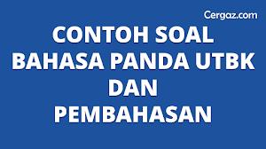 Contoh Soal Panda Utbk Dan Pembahasan Cergaz Com