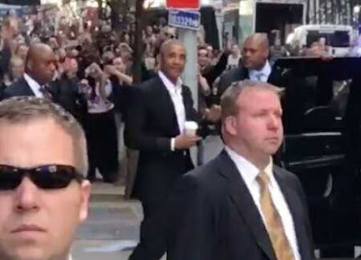 Americans Go Wild as Ex President Obama Makes Surprise Visit to New York