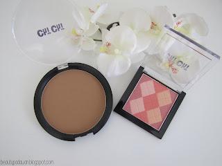 Chi Chi Tropical Island Bronzer; Chi Chi Pink Peach Mosaic Blush
