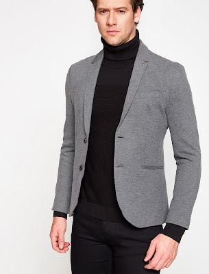 Antrasit gri blazer ceket