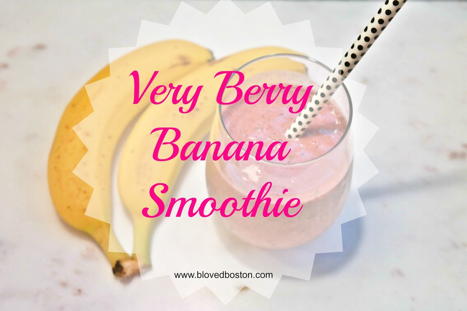 Smoothie with Strawberries and banana