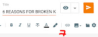 Click on link symbol from your post editor