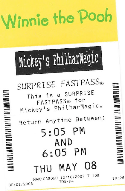 Winnie the Pooh Mickey's Philharmagic Suprise Fastpass Disney World