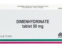 Dimenhydrinate - Kegunaan, Dosis, Efek Samping