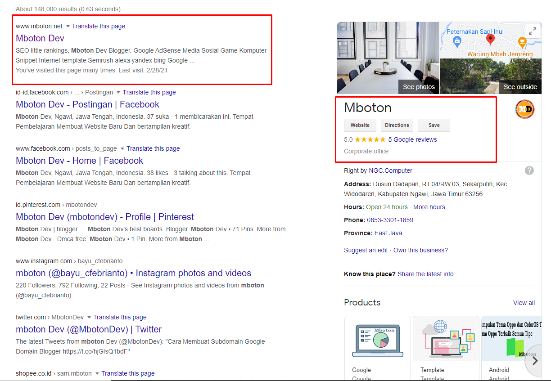 Informasi Google Bisnisku
