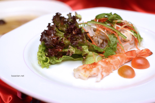 Seafood Glass Noodle with Honey Plum Sauce