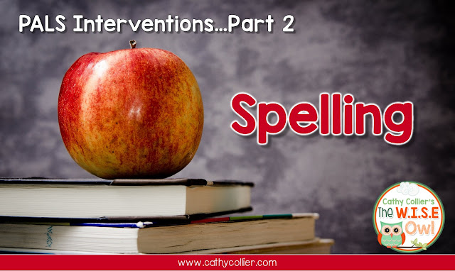 PALS Interventions Part 2...Spelling.  Using a routine and our school's historical data, we developed an intervention routine based on the spelling features.