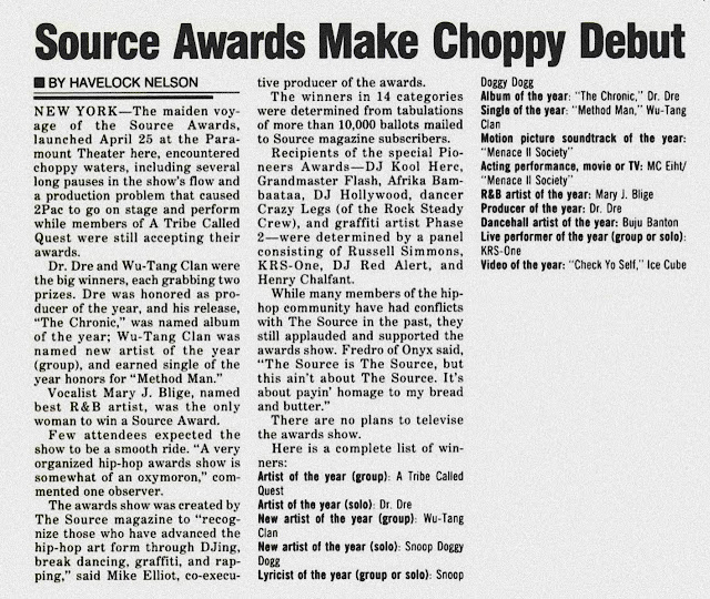 The First Annual Source Awards (April 25, 1994)