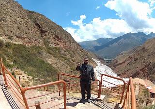 Registrando presença nas Salineras de Maras / Peru.
