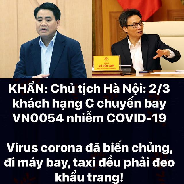 Chủ tịch Hà Nội: 2/3 khoang hạng C chuyến bay VN0054 nhiễm Covid-19
