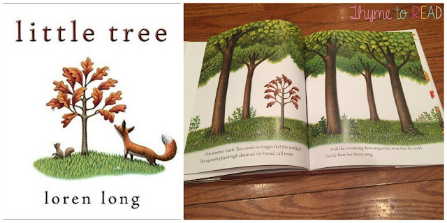 Little Tree by Loren Long mentor text lesson to support understanding theme