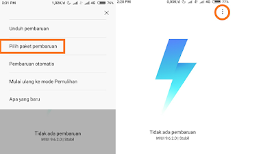 Cara Install Miui 10 android 8.1 Oreo Redmi 5a melalui Updater