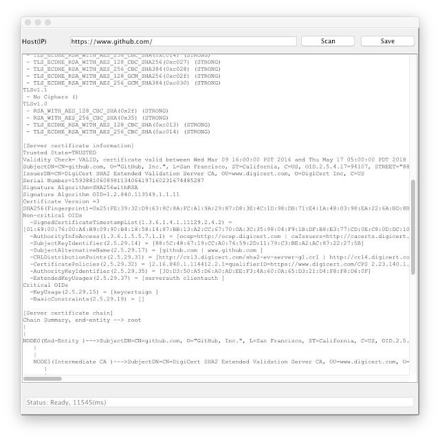 securitycurmudgeon com: DeepViolet TLS/SSL Java DAST Tool Added as