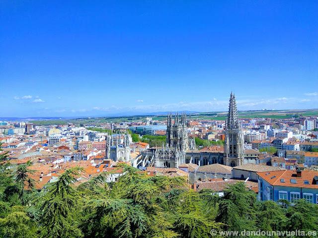 Burgos desde el mirador del castillo
