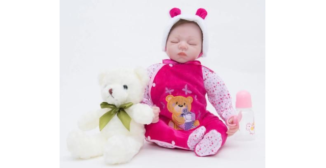"23"" Little Maria Full Silicone Reborn Baby Doll Girl"