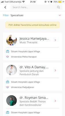 dokter spesialis online