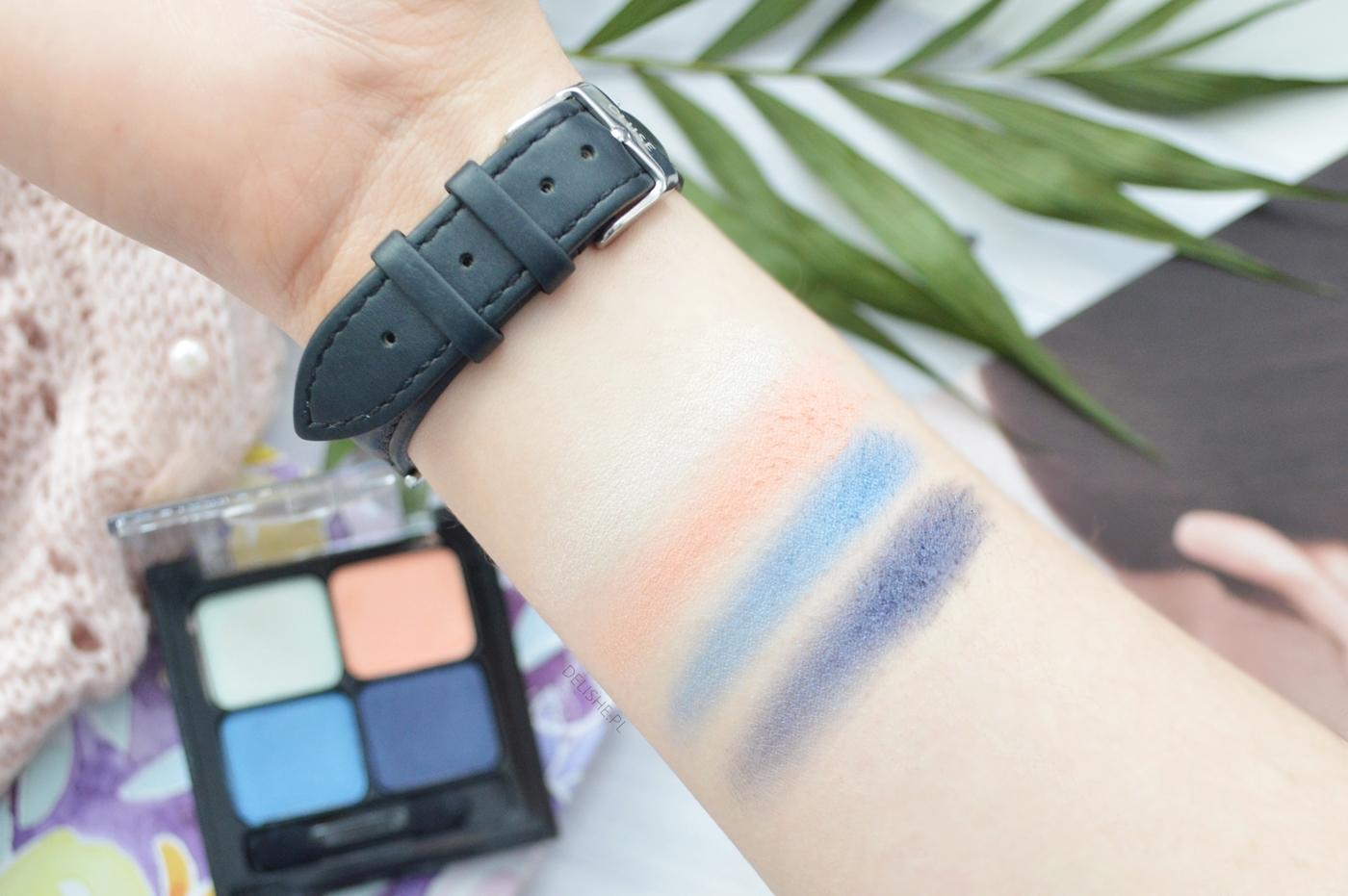 eveline cosmetics paleta cieni nr 14 swatche