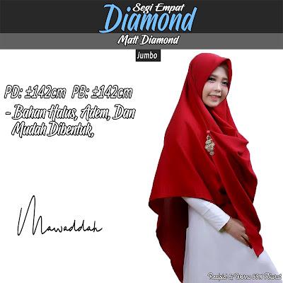 Segi Empat Diamond Jumbo Bahan Halus Adem Mudah dibentuk