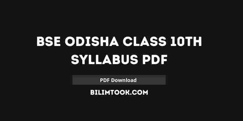 BSE Odisha 10th Class New Syllabus 2020-21 [PDF Download]
