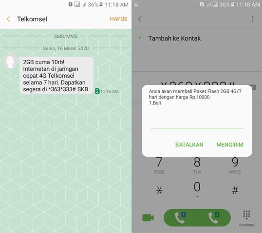 Rincian Paket Internet Telkomsel 2GB 10.000