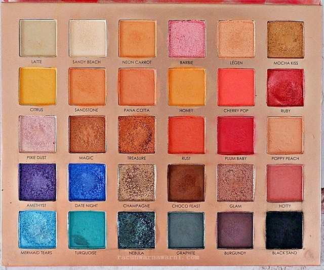 Review Palette Eyeshadow Focallure Endless Possibilities