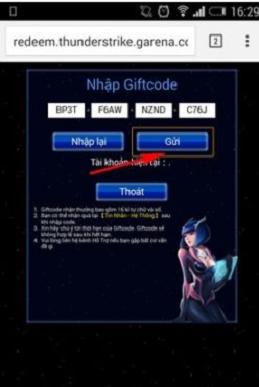 Nhận GiftCode ccht, code chiến cơ huyền thoại 2018 mới nhất e