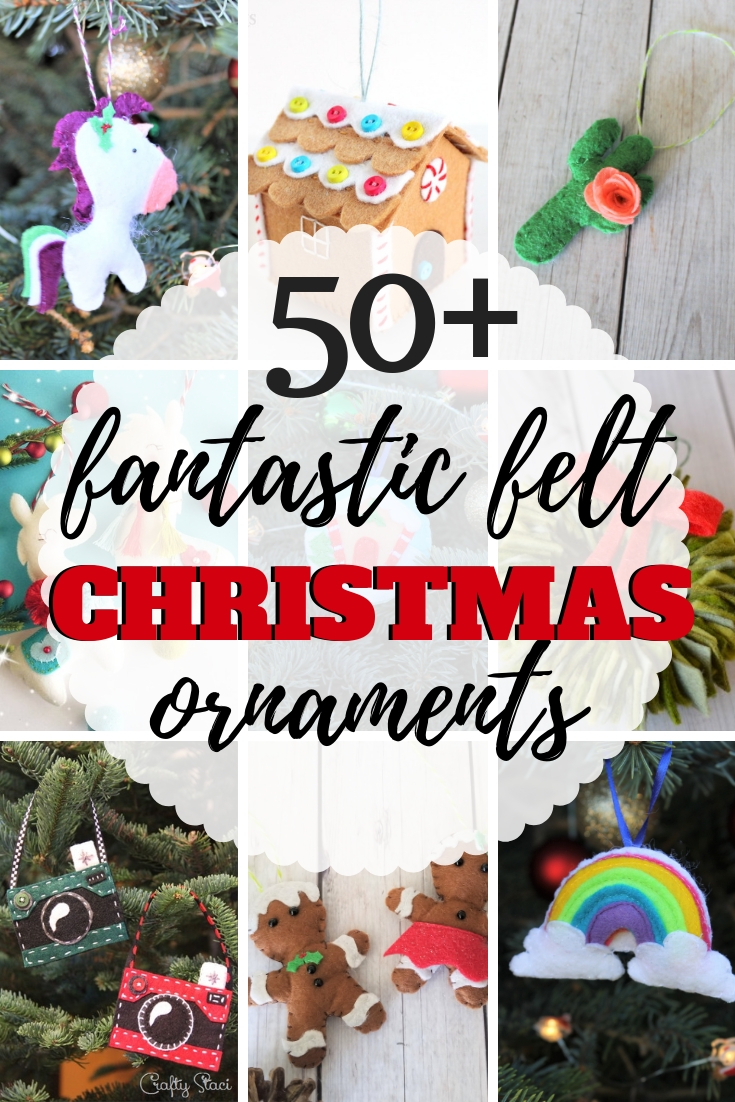Felt Llama Handmade Christmas Ornament