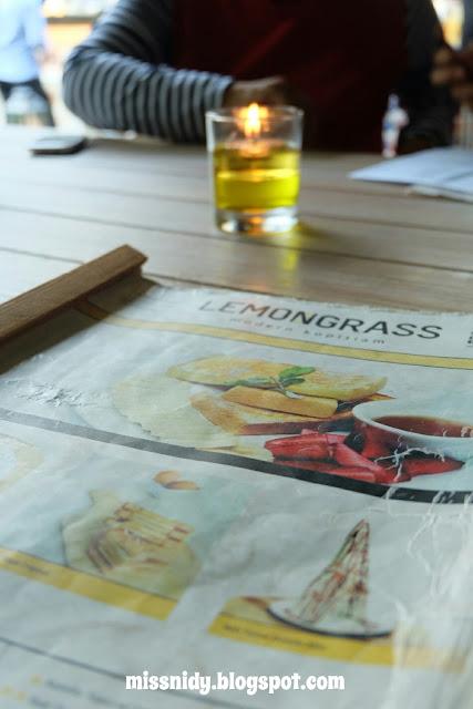 menu makanan di lemongrass bogor