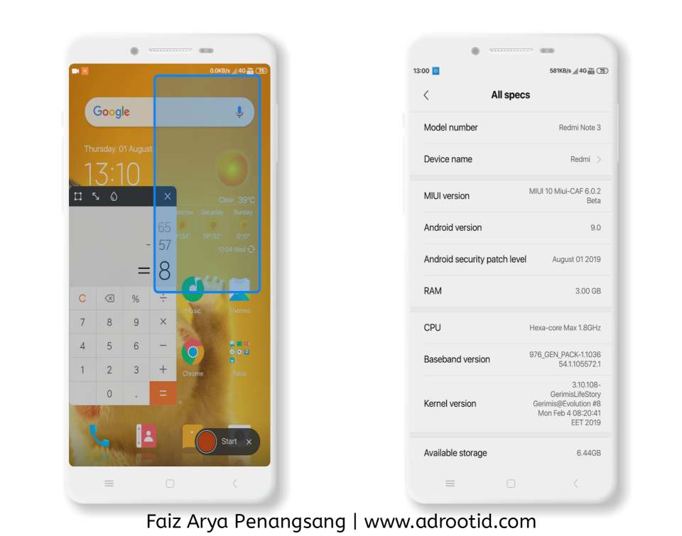 Rom MIUI Caf Kate Kenzo Redmi note 3 pro