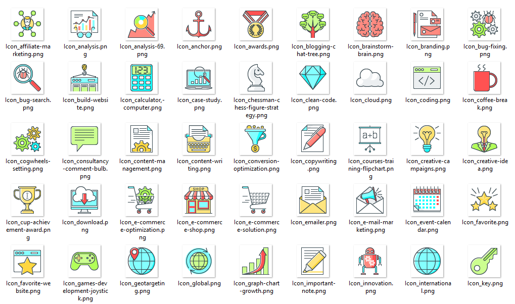 SEO Services and Internet Marketing Icons Free