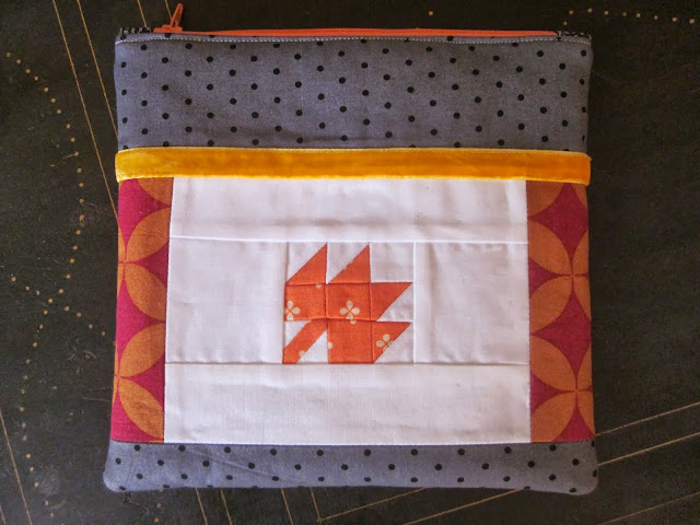 quilted pouch modern maples