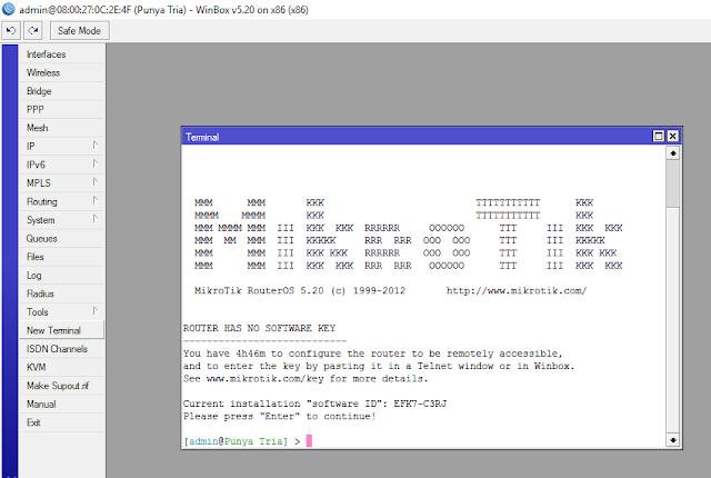 Membangun Server Gateway Router Mikrotik Secara (CLI) - Cinta Networking