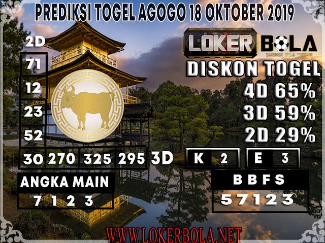 PREDIKSI TOGEL AGOGO LOKERBOLA 18 OKTOBER 2019