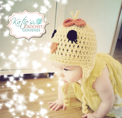 crochet easter chick hat