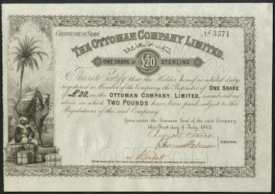 share from The Ottoman Company Limited with vignette of Ottoman merchant and dromedary