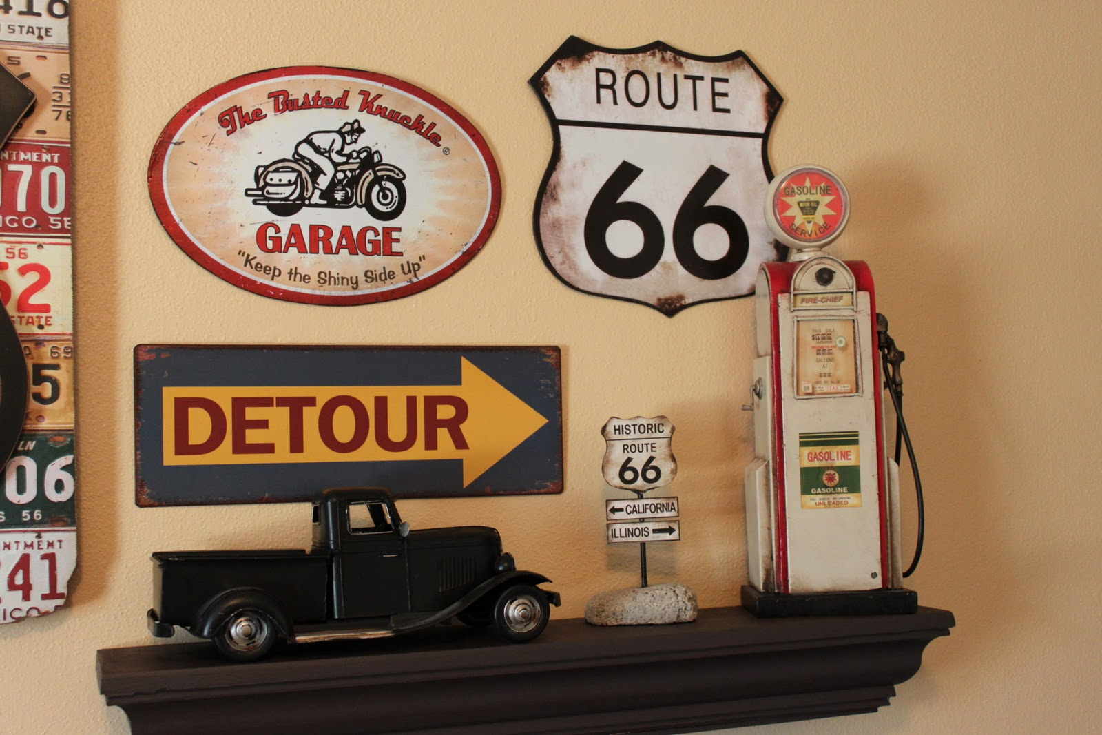Brand new Old Fashioned Route 66 Wall Decor Elaboration - Wall Painting  DV19