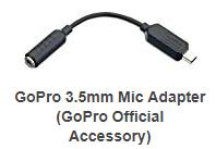 Adaptor mic external gopro