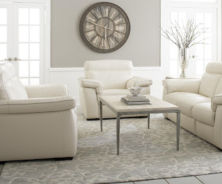 white leather loungers