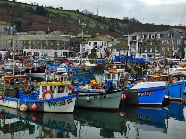Fishing boats in Mevagissey Harbour, Cornwall