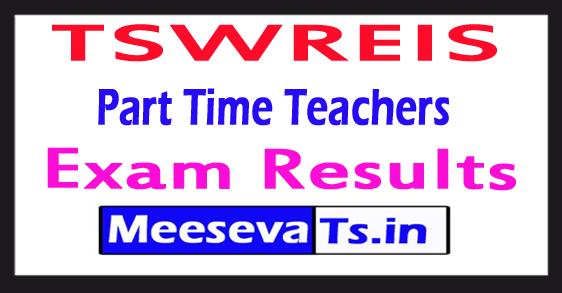 TSWREIS Part Time Teachers Results 2017