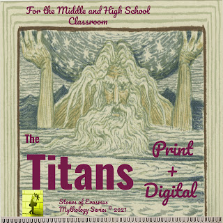Cover Art for a Three-Day Lesson Plan on the Titan Gods of Creation Created and Made with Love by Stones of Erasmus