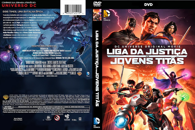 Capa DVD Liga Da Justiça VS Jovens Titãs