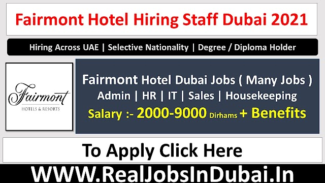 Fairmont Careers Jobs Vacancies In Dubai UAE 2021
