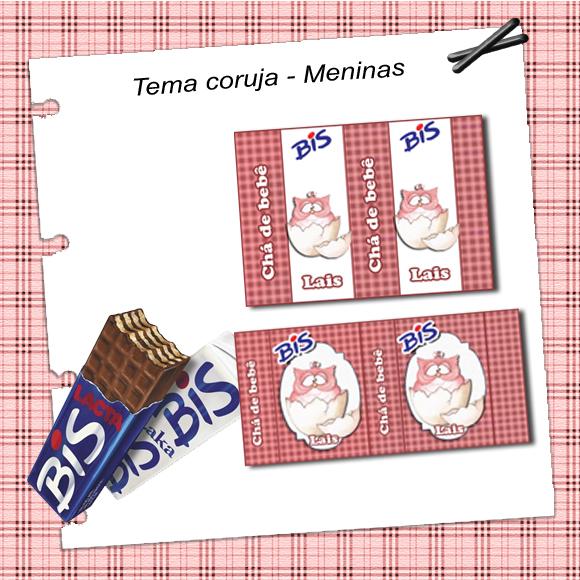 Bis Personalizado, adesivo para chocolate bis
