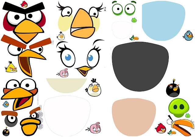 Angry Birds Party Free Printable Masks.