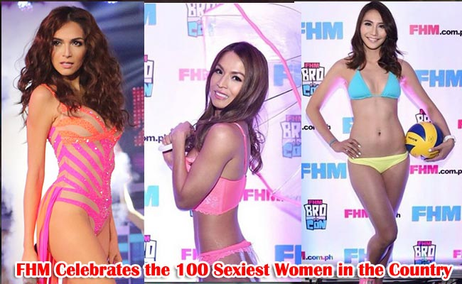 FHM Celebrates the 100 Sexiest Women in the Country Back to Back with First Ever Bro-Con