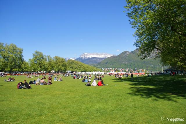Gli enormi giardini e parchi di Annecy
