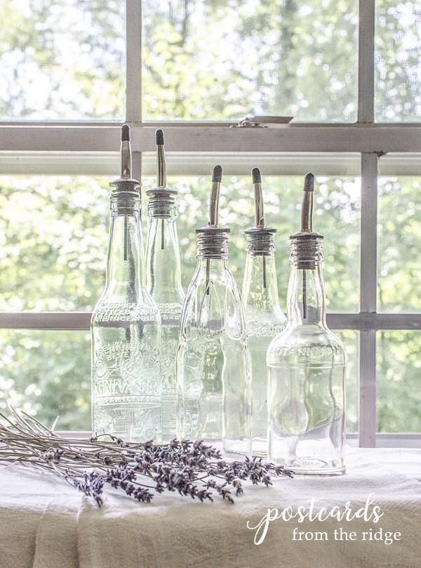 used bottles upcycled into liquid dispenser bottles